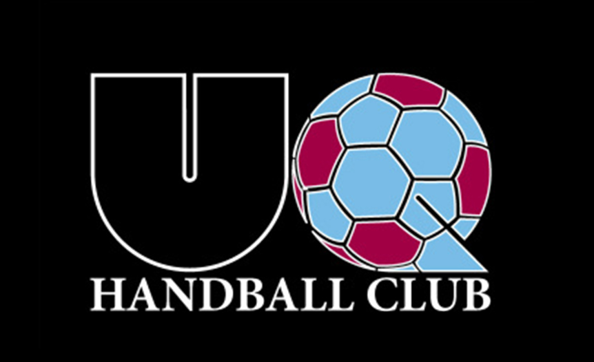UQ handball old logo with ball