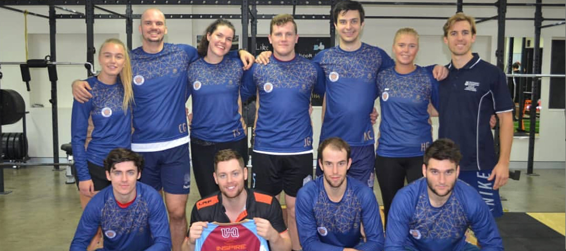 handball team with new jerseys